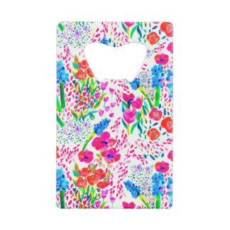 Motif de fleurs coloré mignon d'aquarelle