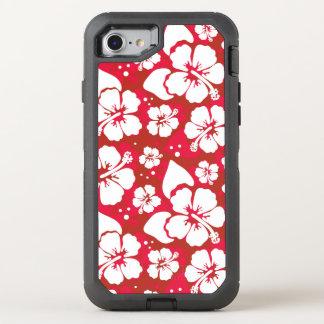 Motif de fleurs de ketmie coque otterbox defender pour iPhone 7