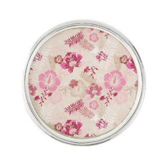 Motif de fleurs moderne rose mignon pin's