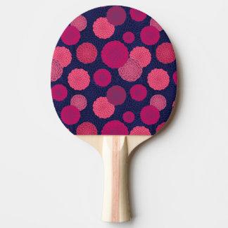 Motif de fleurs rond raquette de ping pong