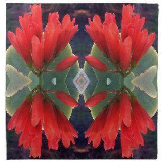 Motif de fleurs rouge serviette imprimée