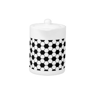 Motif de football en noir et blanc
