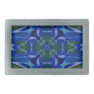 Motif de forme de croix de bleu assez royal boucles de ceinture rectangulaires