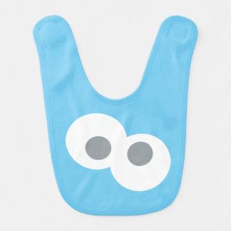 Motif de forme de visage de monstre de biscuit de bavoir