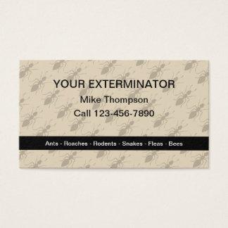 Motif de fourmis d'exterminateur à l'arrière-plan cartes de visite