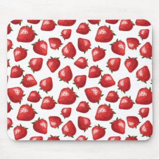 Motif de fraise tapis de souris
