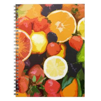 Motif de fruits carnet