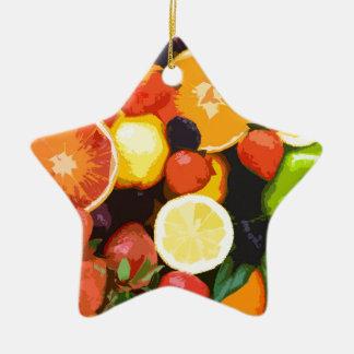 Motif de fruits ornement étoile en céramique