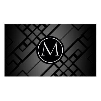 Motif de gradient de labyrinthe cartes de visite personnelles