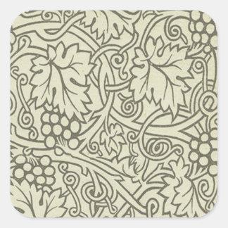 Motif de Grapevile William Morris de vert sauge Sticker Carré