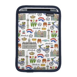 Motif de griffonnage de Netherland Housse iPad Mini