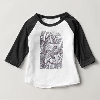 Motif de griffonnage de stylo t-shirt pour bébé