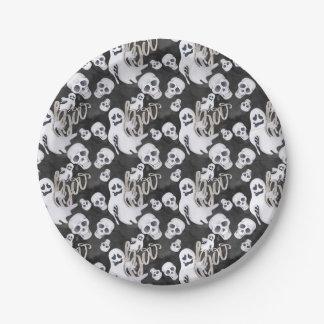 Motif de Halloween de fantômes Assiettes En Papier