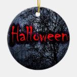 Motif de Halloween Ornement Rond En Céramique