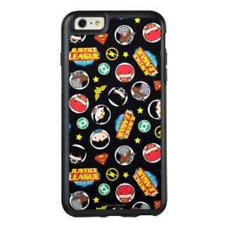 Motif de héros et de logos de ligue de justice de coque OtterBox iPhone 6 et 6s plus