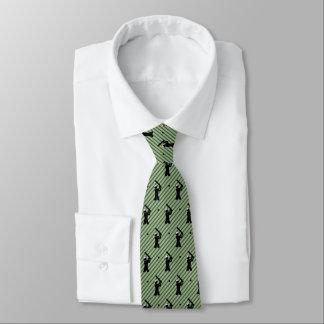 Motif de joueur de cricket sur l'arrière - plan cravates