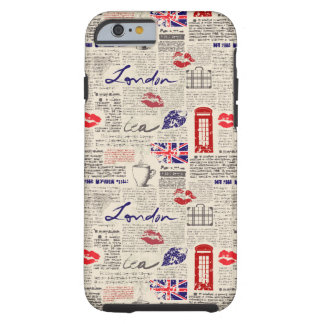 Motif de journal de Londres Coque Tough iPhone 6