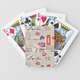 Motif de journal de Londres Jeu De Poker