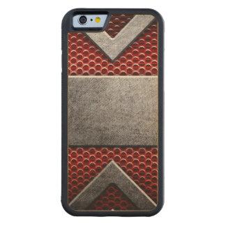 Motif de la plaque de métal coque iPhone 6 bumper en érable