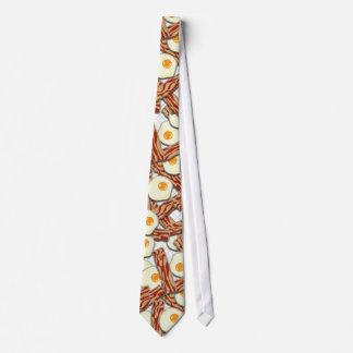Motif de lard et d'oeufs cravate