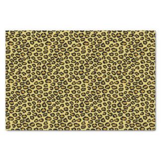 Motif de léopard papier mousseline