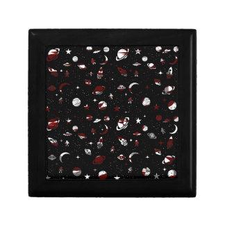 Motif de l'espace petite boîte à bijoux carrée