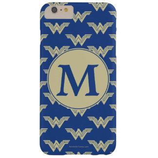 Motif de logo de femme de merveille de monogramme coque iPhone 6 plus barely there