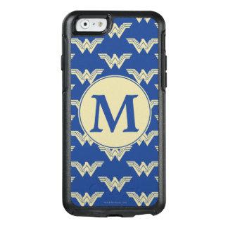 Motif de logo de femme de merveille de monogramme coque OtterBox iPhone 6/6s