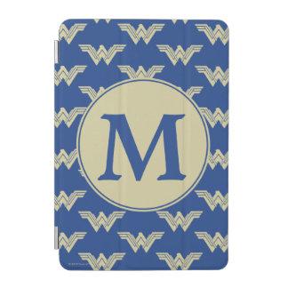 Motif de logo de femme de merveille de monogramme protection iPad mini