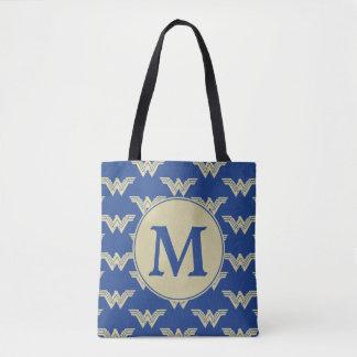 Motif de logo de femme de merveille de monogramme tote bag
