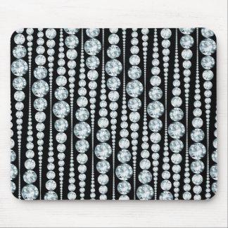 Motif de luxe avec les rayures blanches de diamant tapis de souris