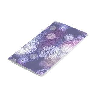 Motif de luxe floral de mandala carnet de poche