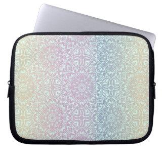 Motif de luxe floral de mandala housse pour ordinateur portable