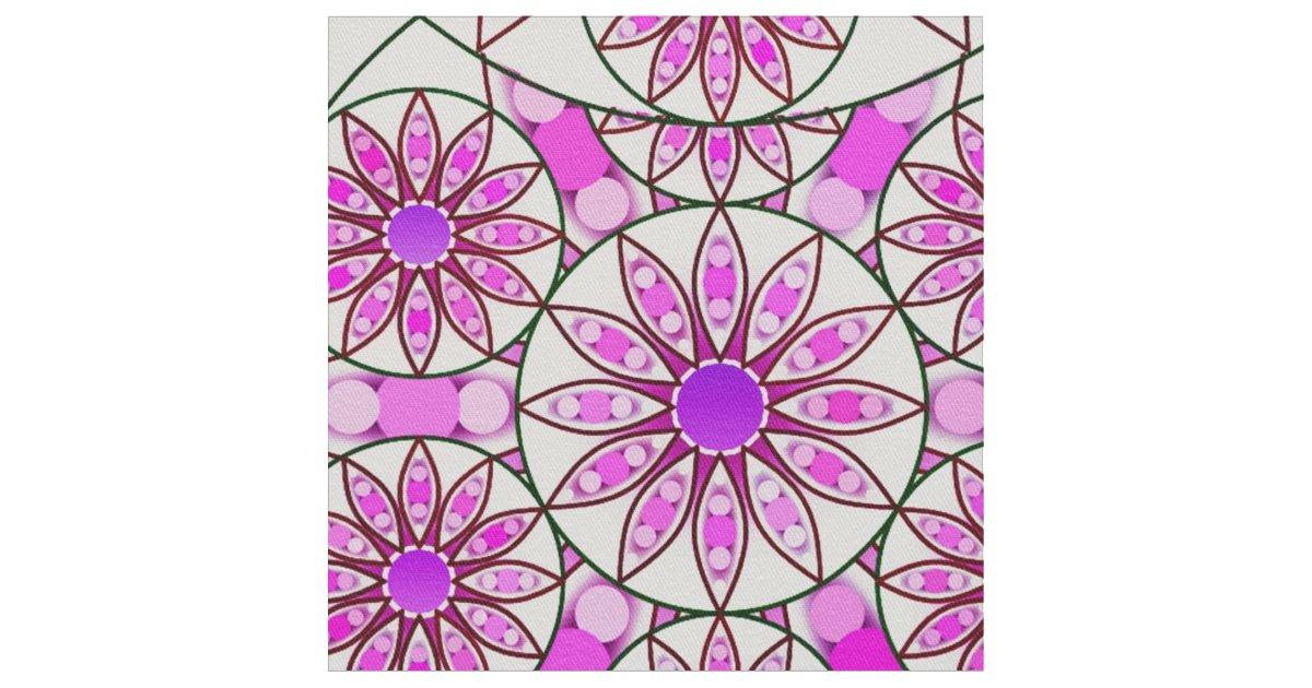 motif de mandala lavande rose rose indien tissu zazzle. Black Bedroom Furniture Sets. Home Design Ideas