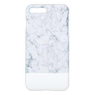 Motif de marbre à la mode blanc bleu moderne de coque iPhone 7 plus