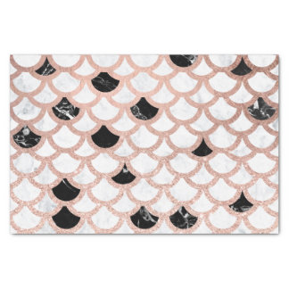 Motif de marbre blanc de feston de noir rose Girly Papier Mousseline