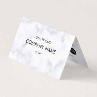 Motif de marbre blanc de fidélité carte de visite
