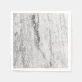 Motif de marbre blanc et gris de texture serviettes jetables