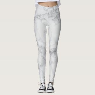 Motif de marbre gris blanc abstrait de conception leggings