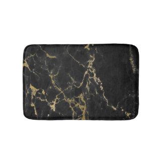 Motif de marbre noir moderne tapis de bain