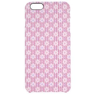 Motif de marguerite sur les rayures roses coque iPhone 6 plus