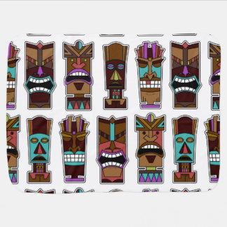 Motif de masque de Tiki Couverture De Bébé