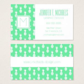 Motif de menthe d'ananas cartes de visite
