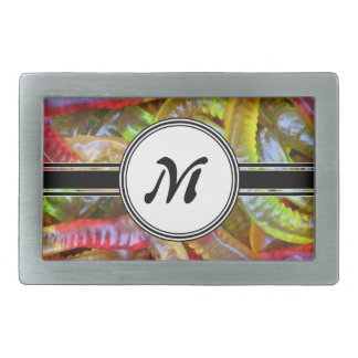 Motif de monogramme de bonbons à Gummie de Boucles De Ceinture Rectangulaires