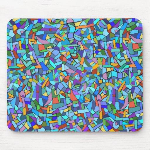 motif de mosa que bleu color abstrait tapis de souris zazzle. Black Bedroom Furniture Sets. Home Design Ideas