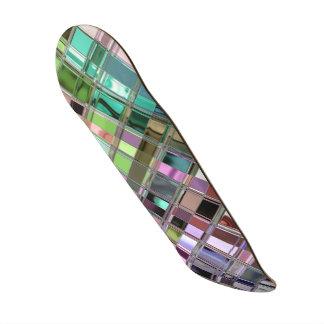 Motif de mosaïque brillant en verre souillé plateaux de planche à roulettes