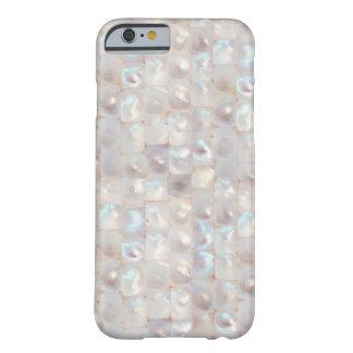 Motif de mosaïque élégant nacré chic coque iPhone 6 barely there