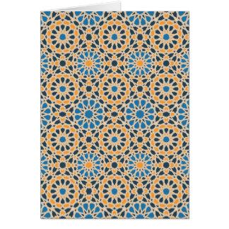 Motif de mosaïque géométrique carte de vœux