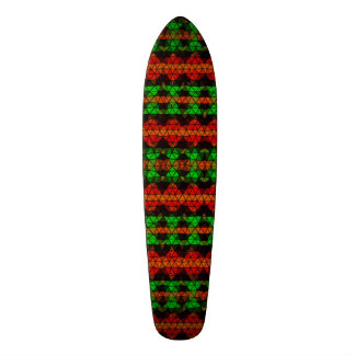 Motif de mosaïque tribal skateboard customisable