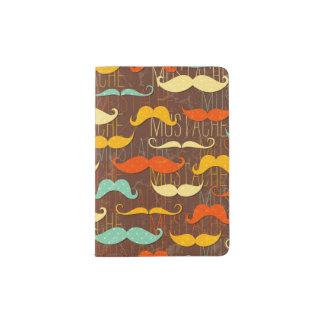 Motif de moustache protège-passeports